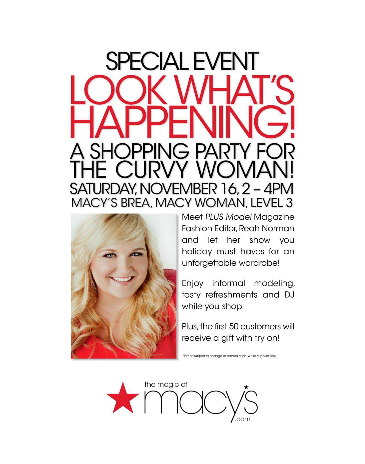 Macy's Plus Size Event Hosted by Reah Norman