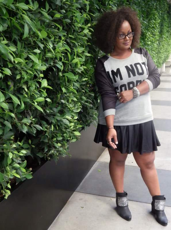 Marie Denee in a Simply Be Plus Size Skater Skirt on The Curvy Fashoinista