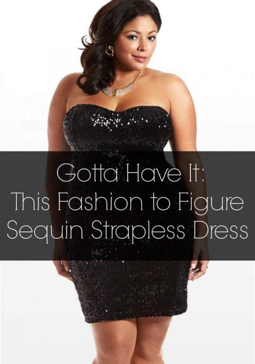 Gotta Have It: Fashion to Figure Plus Size Sequin Dress