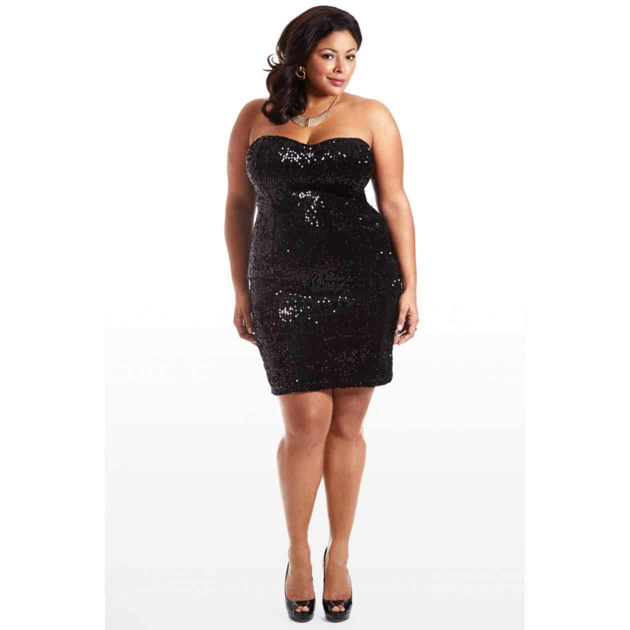 Fashion to Figure Plus Size Sequin Dress on The Curvy Fashionista