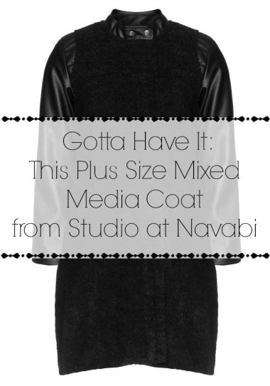Gotta Have It: This Plus Size Mixed Media Coat by Studio at Navabi
