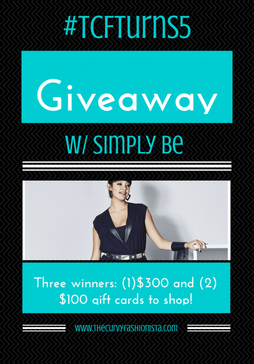 Simply Be Giveaway on The Curvy fashionista