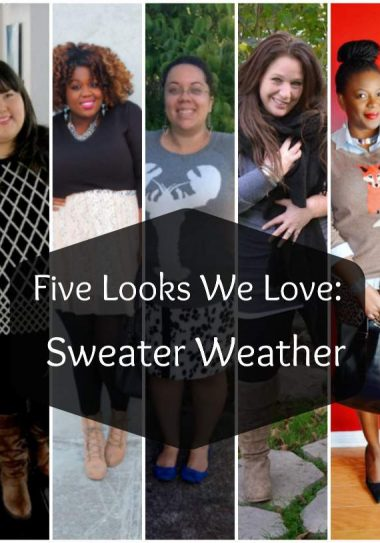 Five Looks We Love Sweater Weather on The Curvy Fashionista