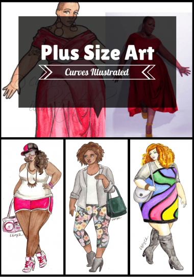 Plus Size Art with Curves Illustrated on The Curvy Fashionista