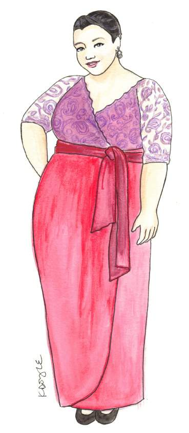 CURVY-CANADIAN-Plus Size BRIDAL- Plus Size Art with Curves Illustrated  on The Curvy Fashionista