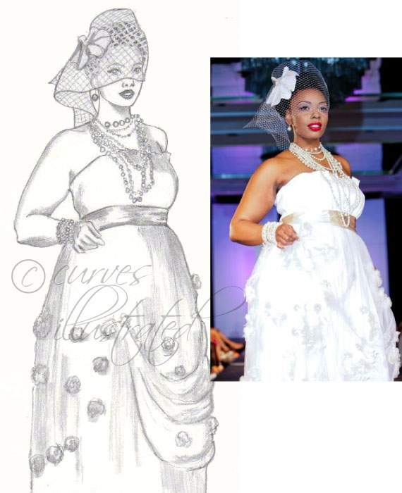 Plus Size BRIDAL- Plus Size Art with Curves Illustrated  on The Curvy Fashionista