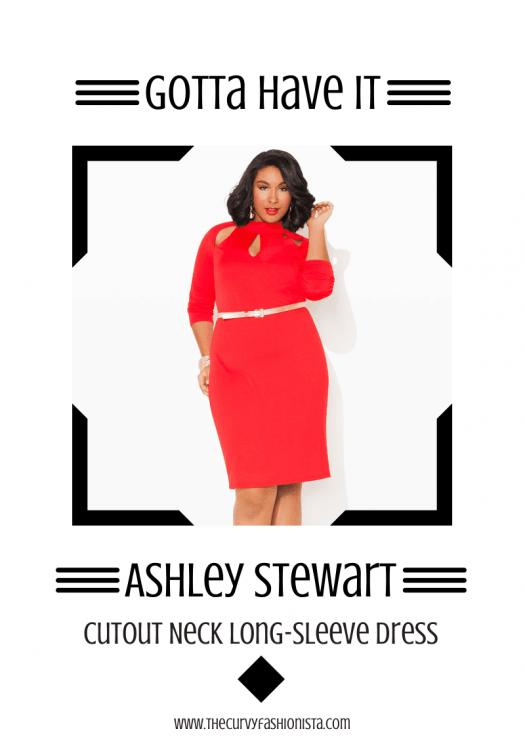 Gotta Have It: Ashley Stewart Cutout Neck Long-Sleeve Plus Size Dress