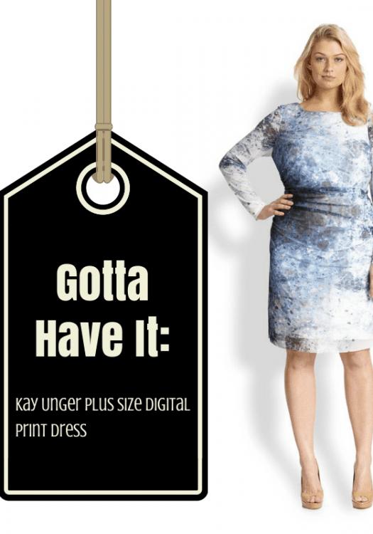 Gotta Have It- This Kay Unger Plus Size Digital Print Dress
