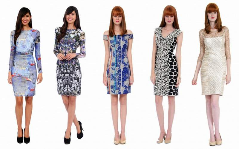 Kay Unger Plus Size Digital Print Dress