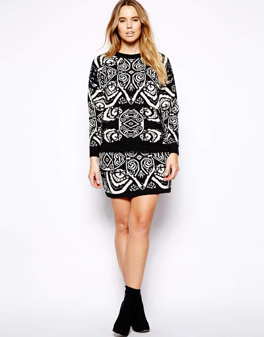 Black and White Skirt Set from ASOS Curve The Curvy Fashionista