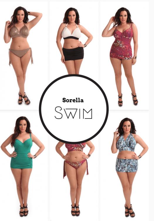 Plus Size Swim: Sorella Swim 2014 Collection on The Curvy Fashionista