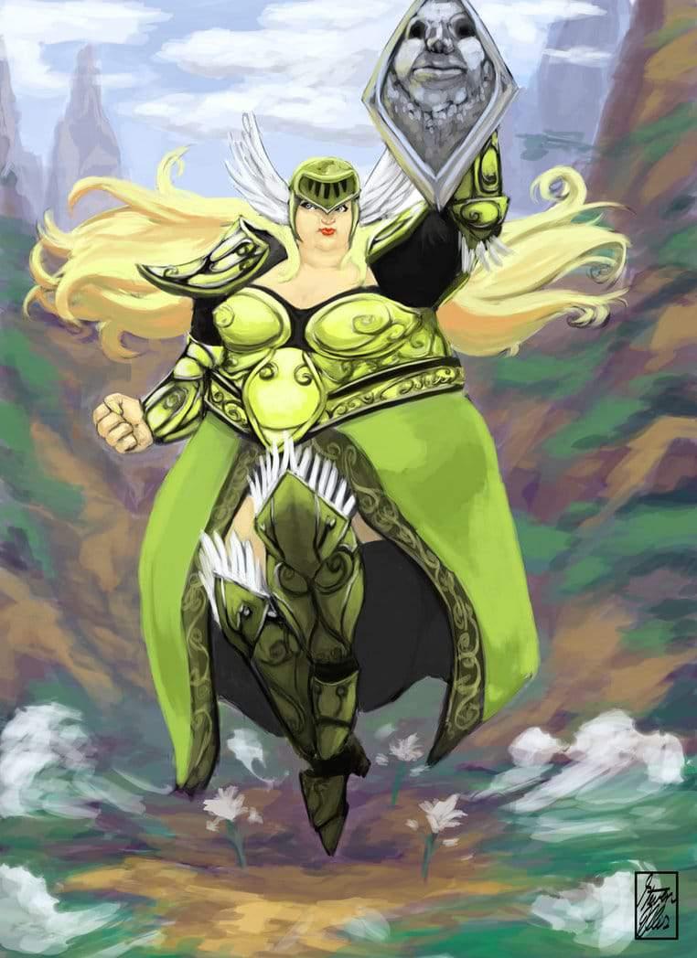 Plus Size Art: The Plus Size Superhero-Svanhilda by Monsta
