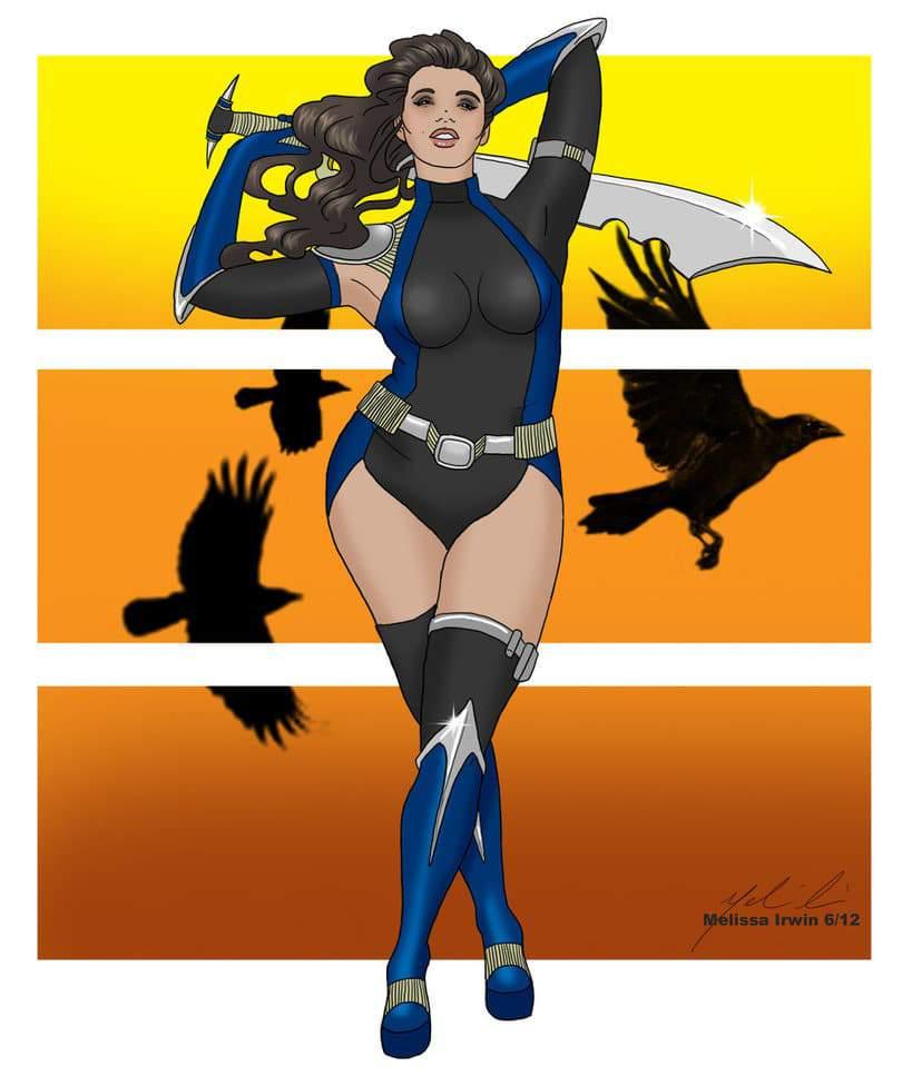 Plus Size Art: The Plus Size Superhero-NightBlade by Rhineville