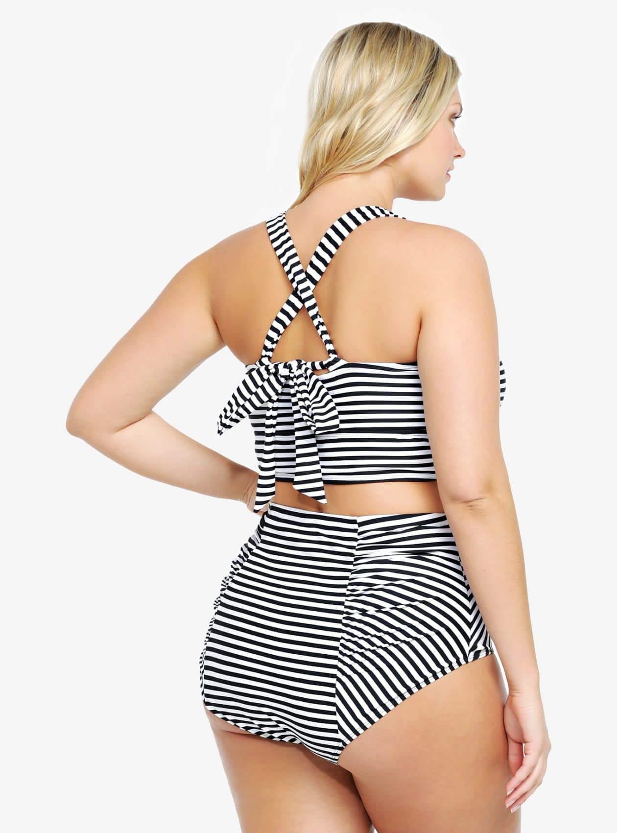 Torrid Striped Plus Size Bikini on The Curvy Fashionista