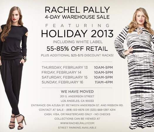 Rachel Pally White Label Warehouse Sample Sale