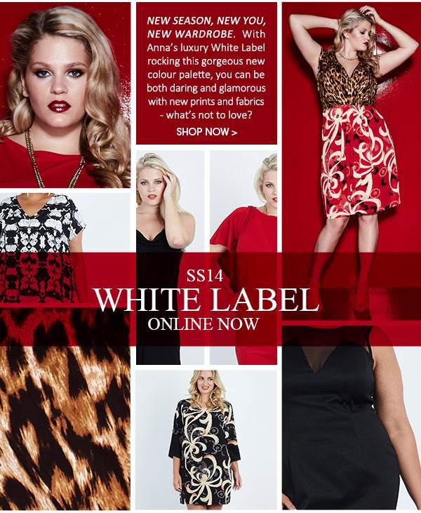Plus Size Designer Anna Scholz Spring 2014 White Label Collection