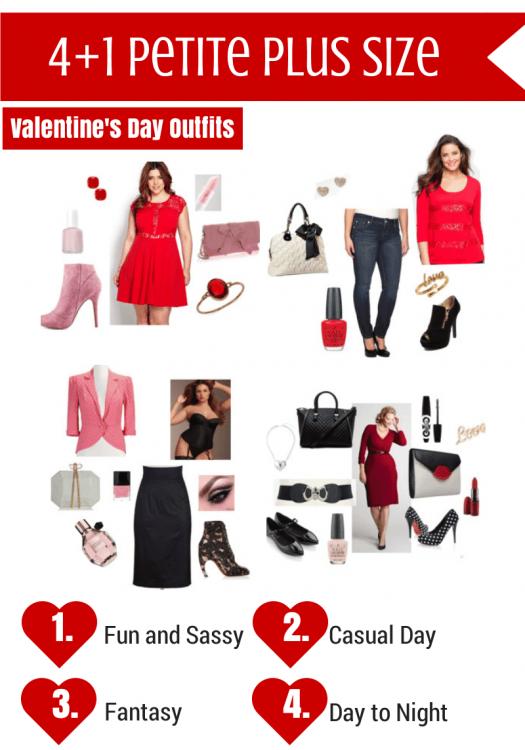Five Petite Plus Size Valentine's Day Outfit Ideas