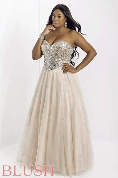 Blush Crystal Ballgown