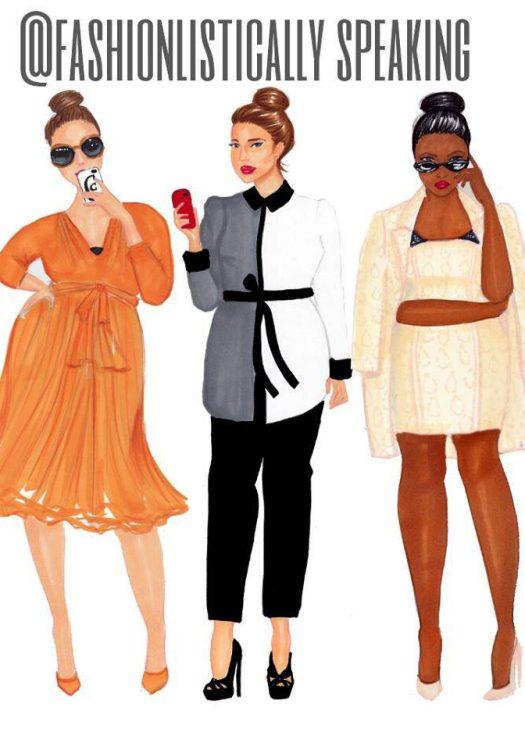 Lane Bryant x Isabel Toledo Sketched By Fashionlistically Speaking