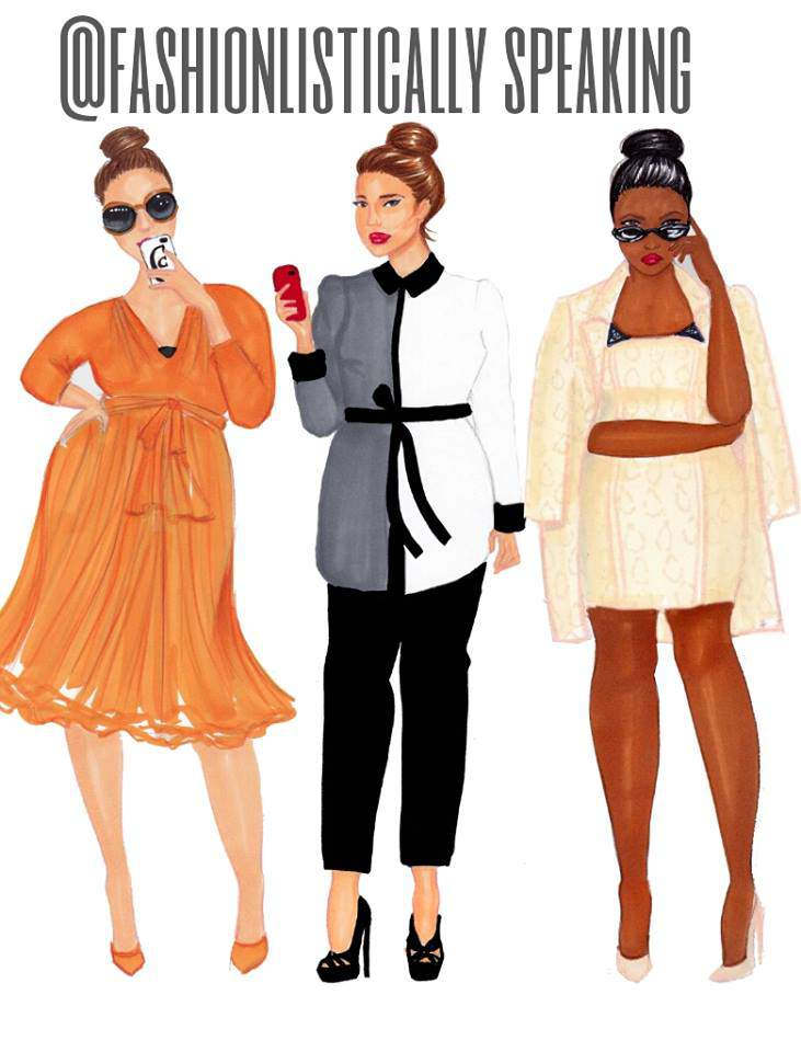 Lane Bryant x Isabel Toledo Sketched By Fashionlistically Speaking