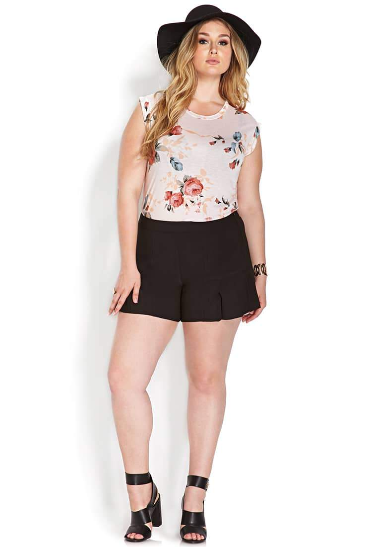These Forever 21 Plus Size Pleated Shorts