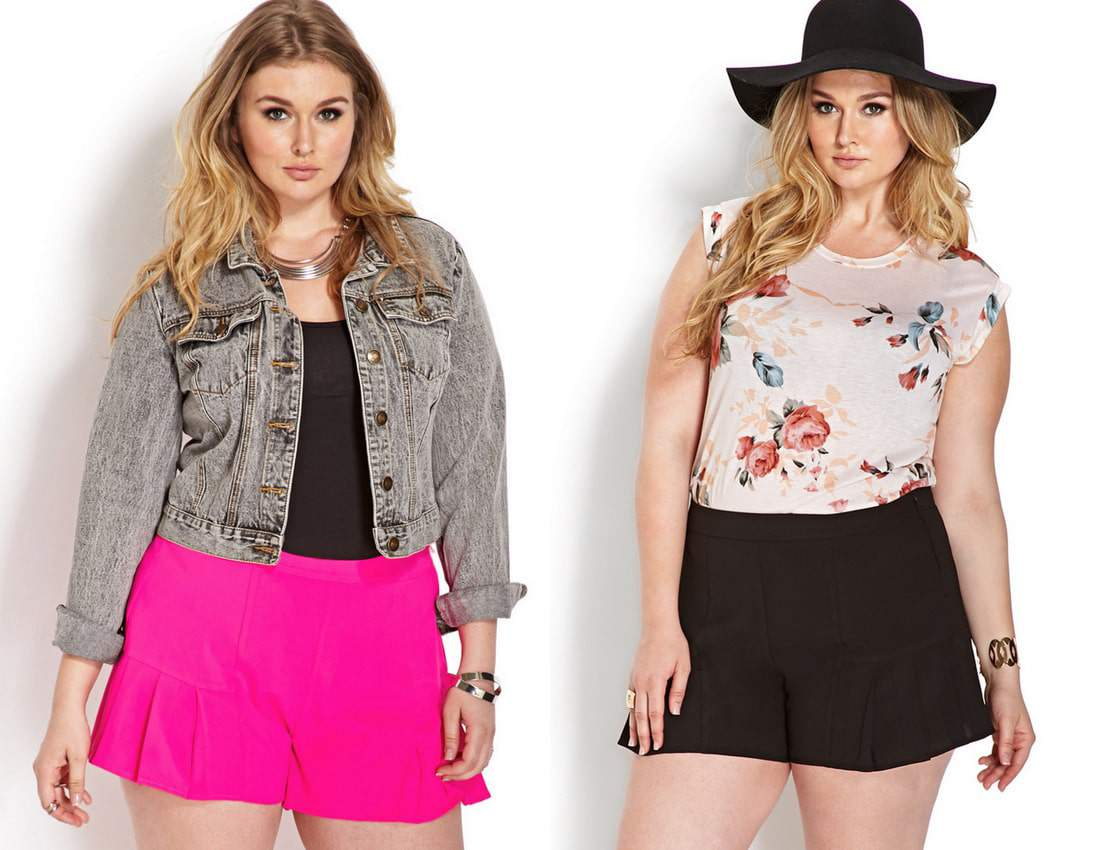 Forever 21 Plus Size Plus Size Pleated Shorts