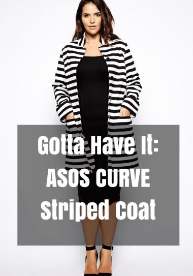 Gotta Have It: ASOS CURVE Striped Coat