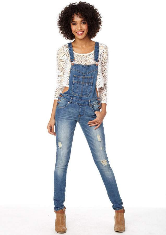 Alloy Deconstructed Plus Size Denim Overalls on The Curvy Fashionista