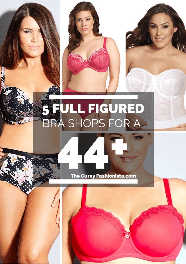 five full figured bras 44 plus