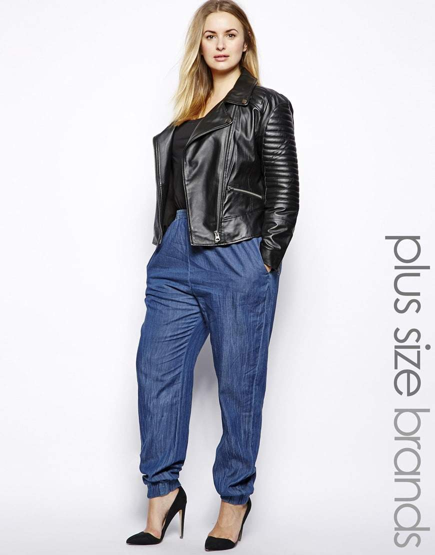 Alice and You Plus Size Denim Joggers from ASOS Curve