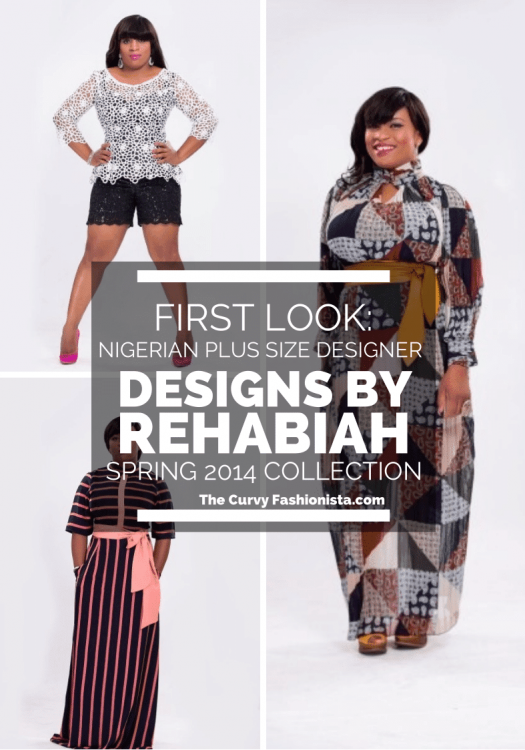 First Look: Nigerian Plus Size Designer Collection- Designs by Rehabiah