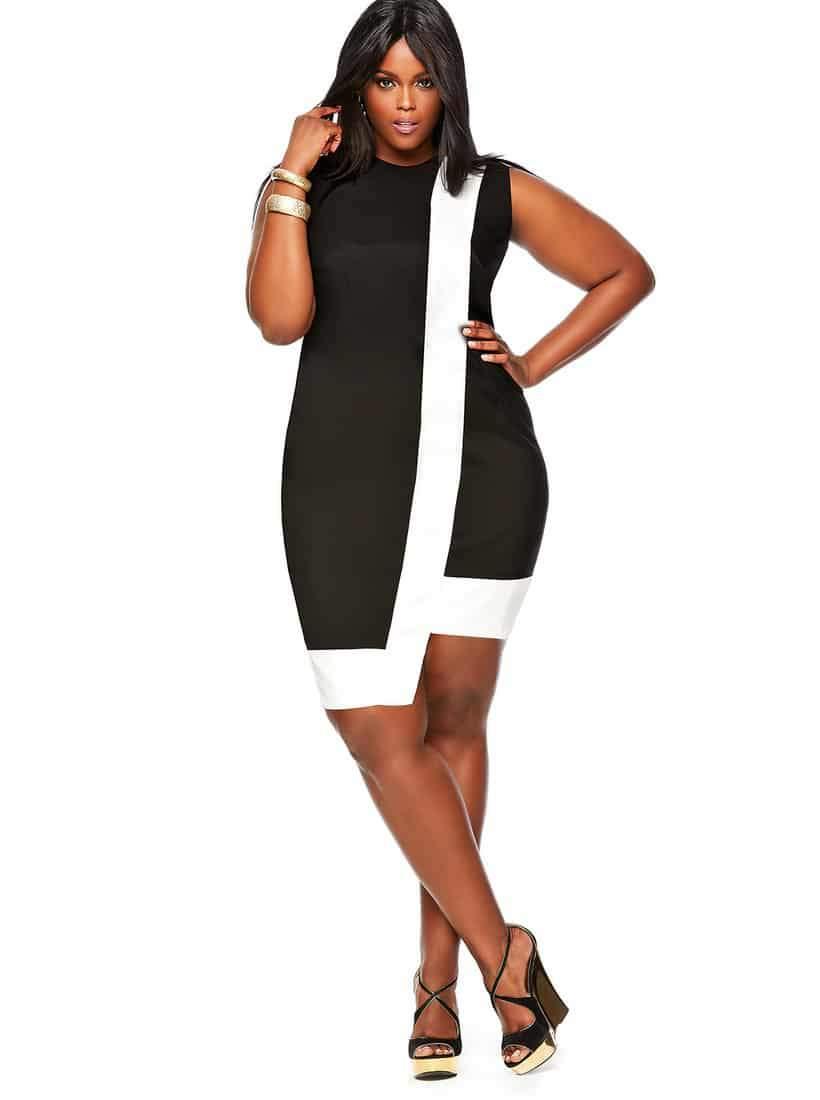 Monif C Plus Sizes Spring 2014 Toni Dress in Black on The Curvy Fashionista