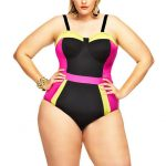 ST VINCENT COLORBLOCK PLUS SIZE SWIMSUIT W UNDERWIRE Monif C Plus Sizes