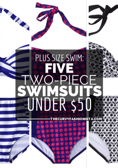 5 Plus Size Two Piece Swimsuits Under $50