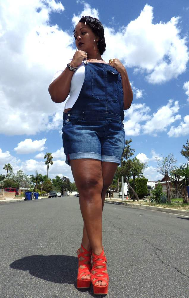 The Curvy Fashionista in Addition Elle Plus Size Overalls