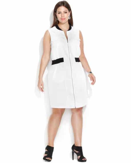 Calvin-Klein-Plus-Size-Sleeveless-Zip-Front-Shirtdress