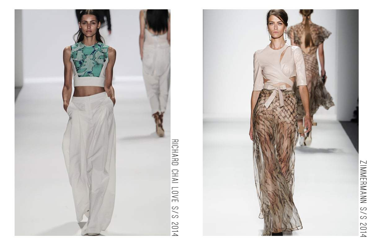 Wide Leg Pant Trend Collage from moda obsesionada