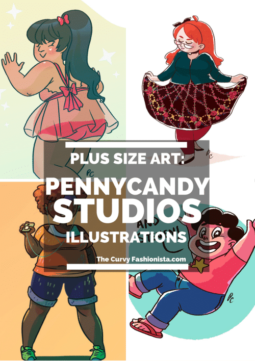 Plus Size Art- Penny Candy Illustrations on The Curvy Fashionista