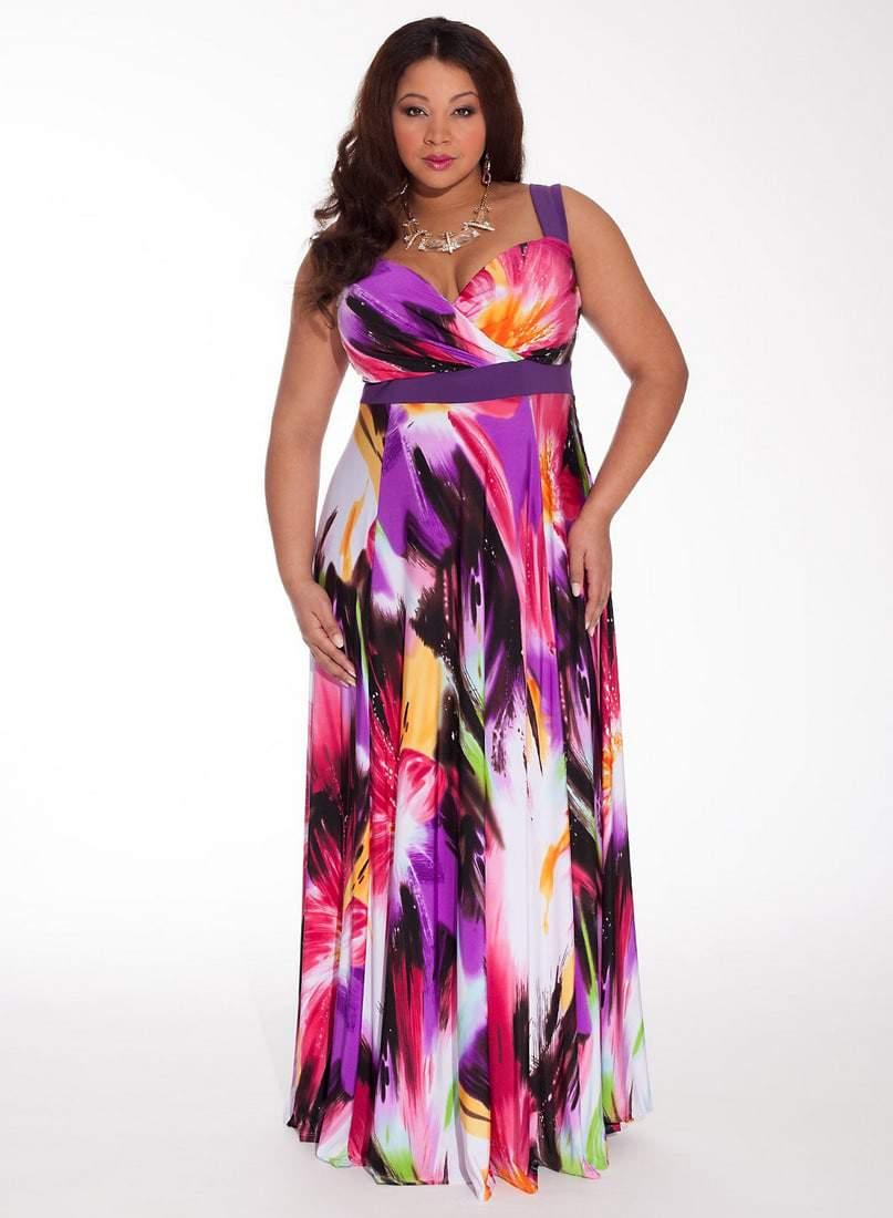 troptical beauty plus size dress by Igigi- WEDDING SEASON: 5 Plus Size Wedding Guest Dresses on The Curvy Fashionista
