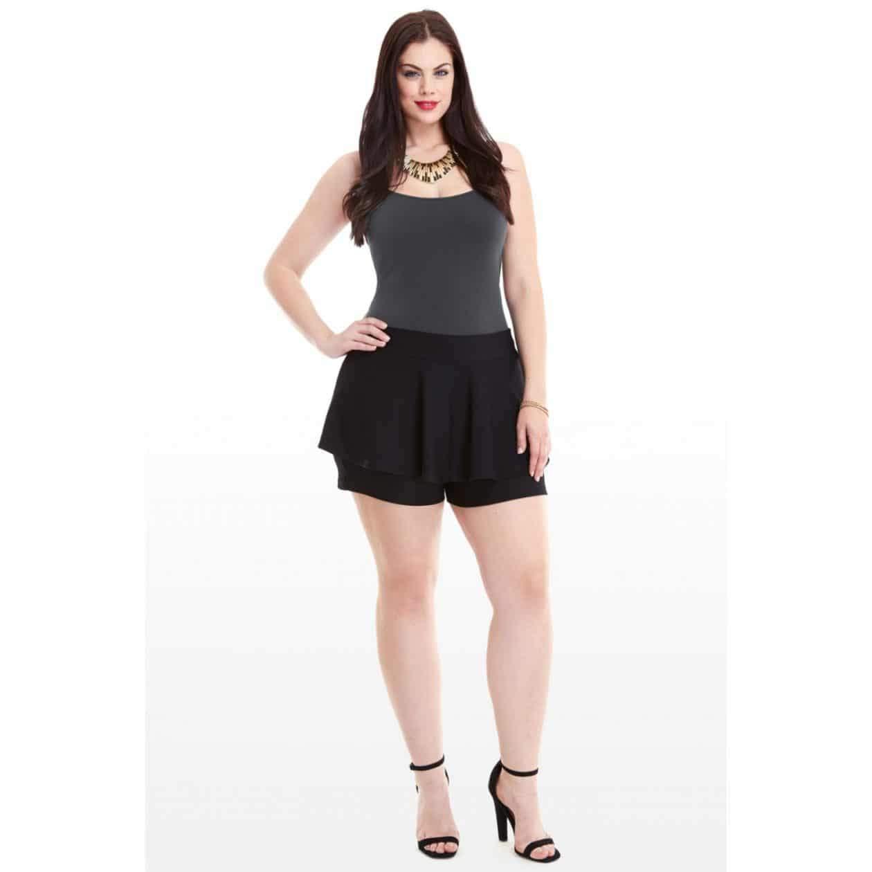 Fashion to Figure Plus Size Peplum Shorts on The Curvy Fashionista