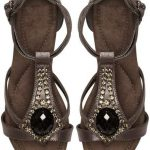 Evans Dani Silver Jeweled Wide Width Wedge Sandals