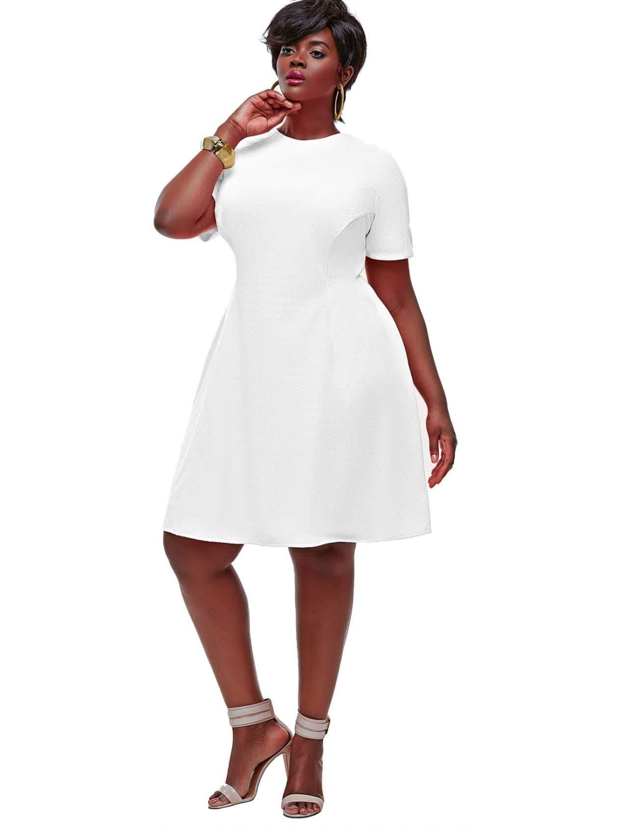 Monif C Plus Sizes- Janel Colorblock Tennis Plus Size Dress