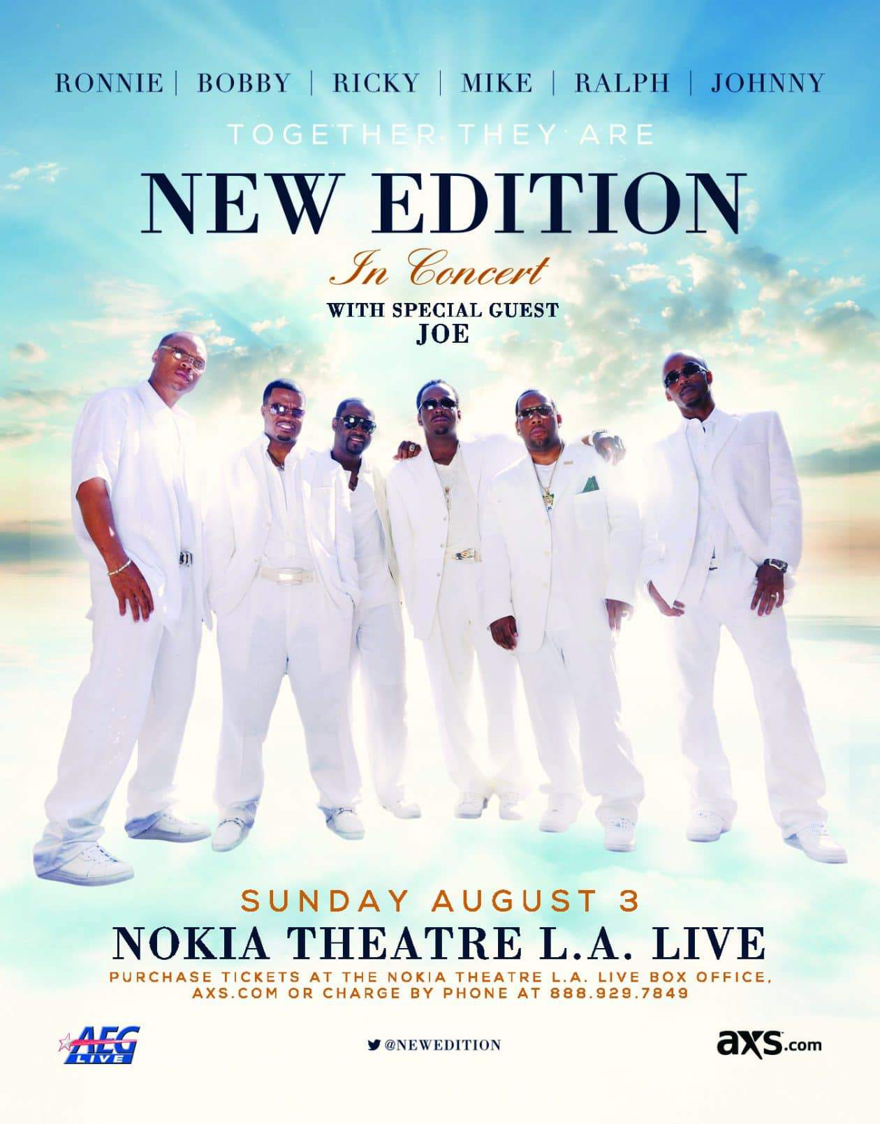 Los Angeles New Edition Concert with Special Guest Joe