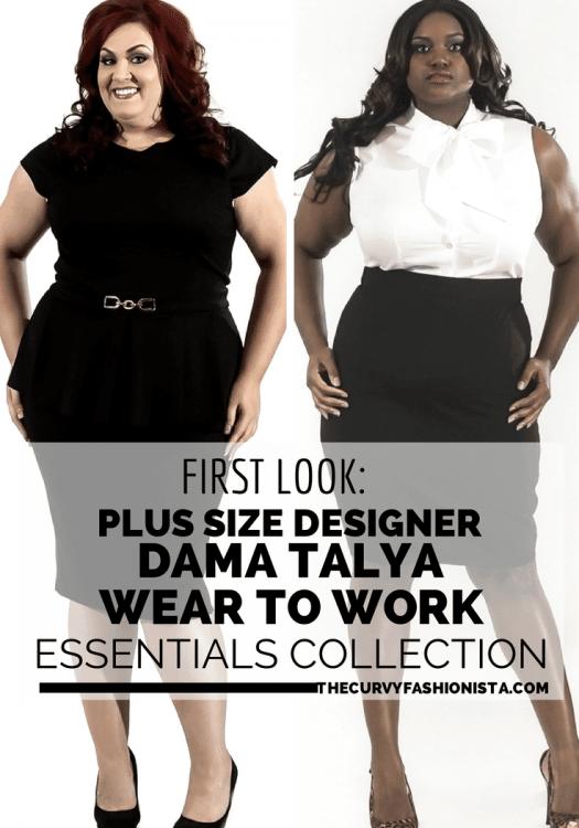 First Look: Designer Dama Talya- Plus Size Wear to Work Essentials
