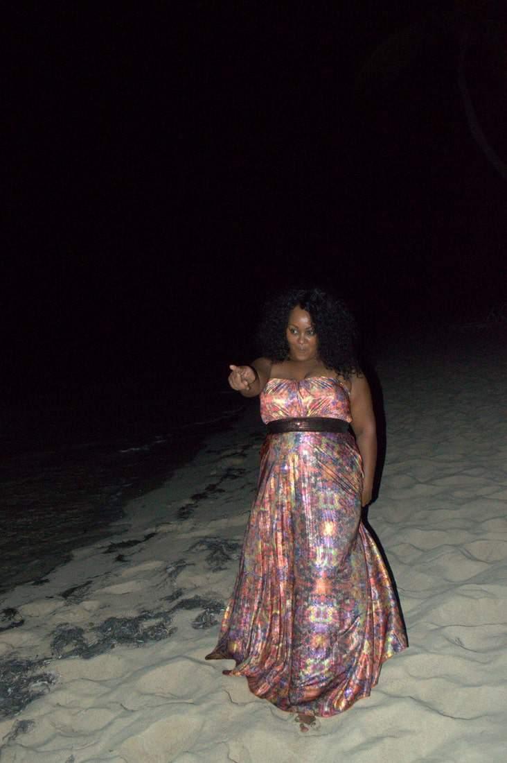 A Beachside Romance in My City Chic Maxi Dress