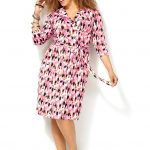 Look #7 Avenue Brushstroke Print Dress
