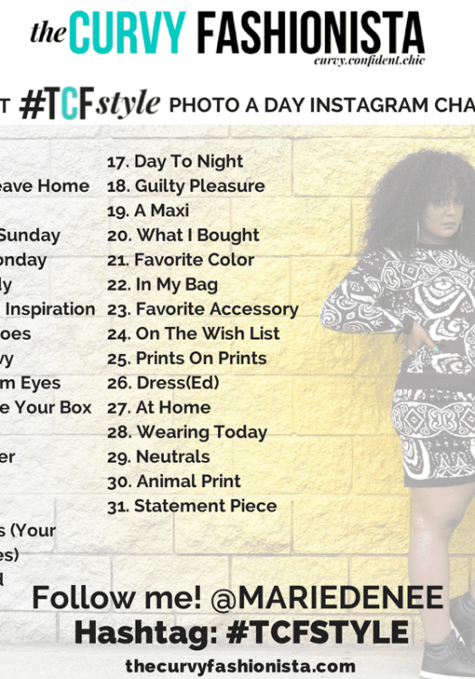 my TCFSTYLE Photo a Day Instagram Challenge