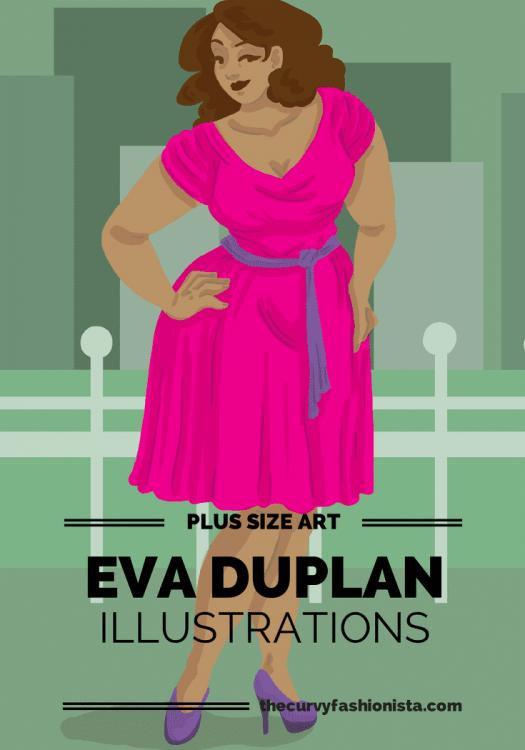 Plus Size Art: Eva Duplan Illustrations