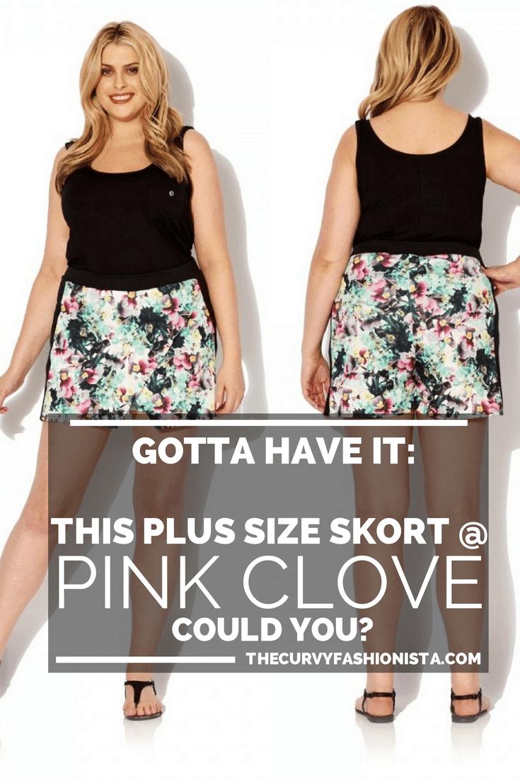 Gotta Have It: Pink Clove Plus Size Floral Skort