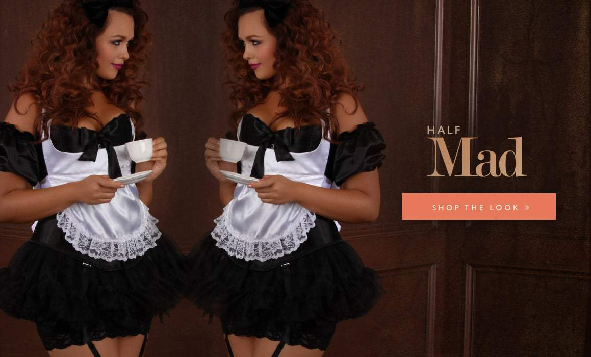 Hips and Curves Plus Size Halloween Look Book: half-mad